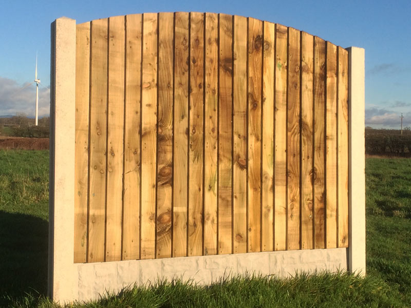 Heavy Duty Feather Edged Fence Panel With Arched Top