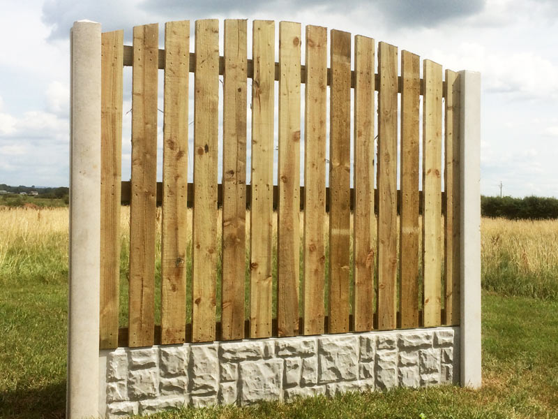 Arched Top Palisade Fence Panel