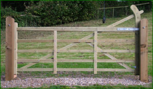'Country' wooden gate