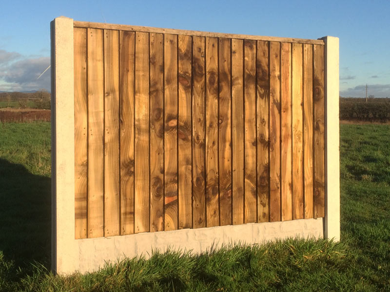 Heavy Duty Feather Edged Fence Panel With Flat Top