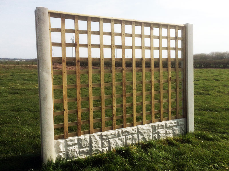 Trellis Fence Panel With Flat Top